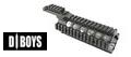 D-Boys Aluminum RASII Rail Upper & Lower Handguard for M4(Black)