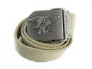 US IBH Assault SEAL Tactical Full Black Metal Buckle Belt -TAN
