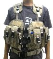 CQB Navy Tactical MOD MOLLE Vest With Hydrations System- TAN