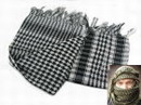 EAIMING Shemagh Arab Checker Scrim Scarf (Black & White)