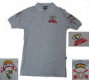 US Special Forces AIRBORNE SEAL Polo Shirt - Gray