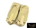 FLYYE Cordura MOLLE Dual AK Mag Pouch (Coyote Brown)
