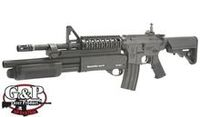 G&P Metal M4 RAS AEG with Masterkey Shot Gun (Style A, Black)
