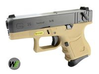 WE Metal Slide G26 GBB Pistol Full Auto Ver. (TAN)