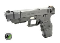 WE Metal Slide G26C Advance GBB Pistol Full Auto Ver. (BK)