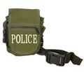 Police Logo Nylon Material Universal Pocket Bags(Olive Drab)