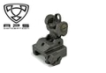 APS Metal Folding Tactical Rear Sight with 20mm mount (Black)
