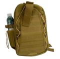 Nylon MOLLE Single backpack  (Coyote Brown)