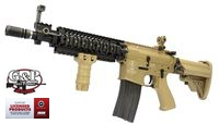 G&P Metal M4 Sentry Assault Rifle AEG (Troy, Short Ver, Tan)