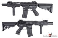 King Arms Metal Vltor M4 VIS CQBR Assault Rifle AEG (Black)