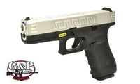 G&P Custom Metal Slide Lonewolf G17 M232 GBB Pistol (SV/BK)