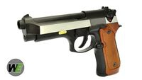 WE Metal M92F GBB Pistol with 2-tone slide & Extended Grip (BK)