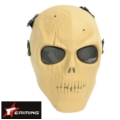 Skeleton Tactical Full Face Hard Plastic Mask - CB