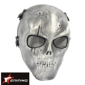 Skeleton Tactical Full Face Hard Plastic Mask (Sliver FG)