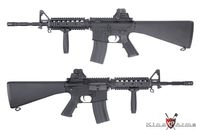 King Arms M4A1 RIS Ultra Grade AEG with Fixed Stock (Black)