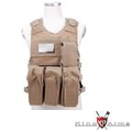 King Arms MPS Fast Release Combat Vest Set (AK type, Tan)
