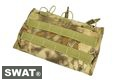 SWAT Cordura Molle Open top Triple 7.62 Mag Pouch (Highlander)