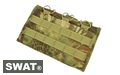 SWAT Cordura Molle Open top Triple 7.62 Mag Pouch (Mandrake)