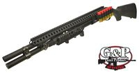 G&P Metal M870 Tactical Shotgun w/ rail mount & Dummy Round (BK)