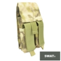SWAT Molle Dbl Mag pouch for M4 / Handgun (Kryptenk Highlander)