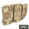 SWAT Molle Triple Mag Pouch for M4 Mag (Nomad)