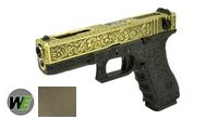 WE Metal Slide G18C GBB Pistol Classic Pattern (Bronze)