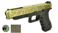 WE Metal Slide G34 GBB Pistol Classic Pattern (Bronze)