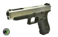 WE Metal Slide G34 GBB Pistol Gen 4 Frame Version (Silver)