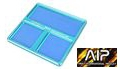 AIP Aluminum Screws / Parts Tray with Magnetic Surface (Blue)