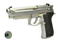 WE Metal New System M9A1 GBB Pistol Semi&Auto Ver. (Silver)