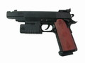 (K-131) SMART Colt KM IV Black hop-up spring GUN Pistol