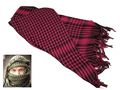 EAIMING Shemagh Arab Checker Scrim Scarf (Black & Pink)