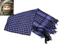EAIMING Shemagh Arab Checker Scrim Scarf (Black & Purple)