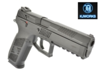 KJ Works CZ P-09 Duty GBB Pistol (CO2 Version , Black)