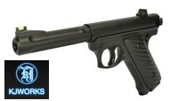 KJ Works MK2 CO2 NBB Pistol (6mm Version, Black)