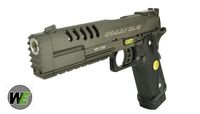 WE Hi-Capa 5.2 Type K Striker Full Metal GBB Pistol-BK