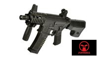 AMOEBA M4 Pistol AEG with RAS handguard (AM007, Black)