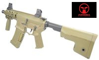 AMOEBA M4 Pistol AEG with RAS handguard (AM007, Dark Earth)