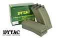DYTAC 300 rds Metal Bravo Magazine for M4 AEG 5 pcs set (Black)
