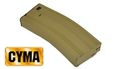 CYMA 130 rounds mid-cap magazine for M4 AEG (Tan)