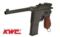 KWC Metal M712 Broomhandle CO2 GBB Pistol (Black)