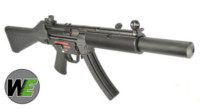WE Stamped Steel Frame APACHE SD1 Sub-machine gun GBB (Black)