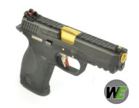WE BB FORCE T1 A style pistol (BK Slide/GD Barrel/BK Frame)