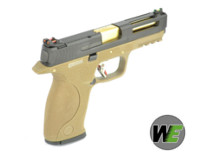 WE BB FORCE T3 B style pistol (BK Slide/GD Barrel/TAN Frame)