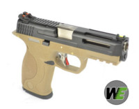WE BB FORCE T4 B style pistol (BK Slide/SV Barrel/TAN Frame)