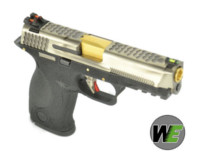 WE BB FORCE T5 A style pistol (SV Slide/GD Barrel/BK Frame)