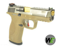 WE BB FORCE T7 A style pistol (SV Slide/GD Barrel/TAN Frame)