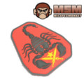 MilSpec Monkey Scorpion Patch (Red)
