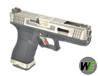 WE G17 GBB Pistol (Silver Slide, Black Frame, Silver Barrel)