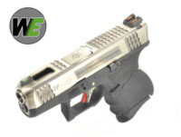 WE G27 GBB Pistol (Silver Slide,Black Frame,Silver Barrel)